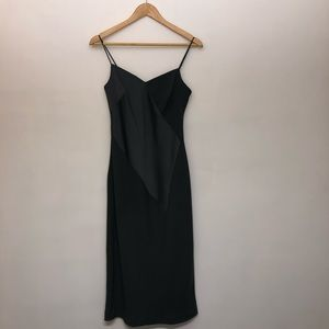 Banana Republic Asymmetrical Seaming Slip Dress